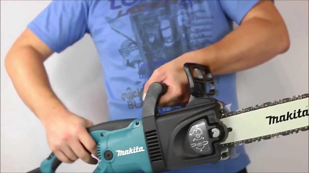 Электропила Макита цепная — обзор моделей uc3520a, 4030a, запчасти, инструкция по эксплуатации, видео