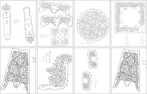 Шаблоны резных наличников на окна – чертежи, рисунки, эскизы, узоры и орнаменты для резьбы лобзиком своими руками   фото