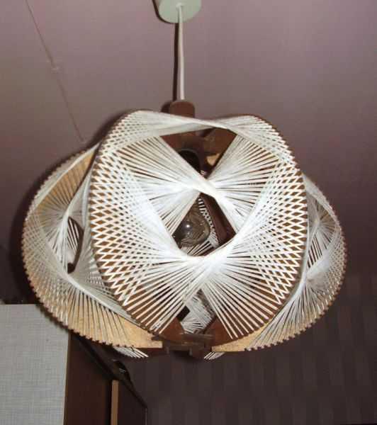 Чертеж поделки Настольная лампа