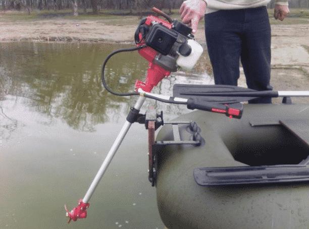 Изготовление лодочного мотора из триммера — алгоритм, чертеж