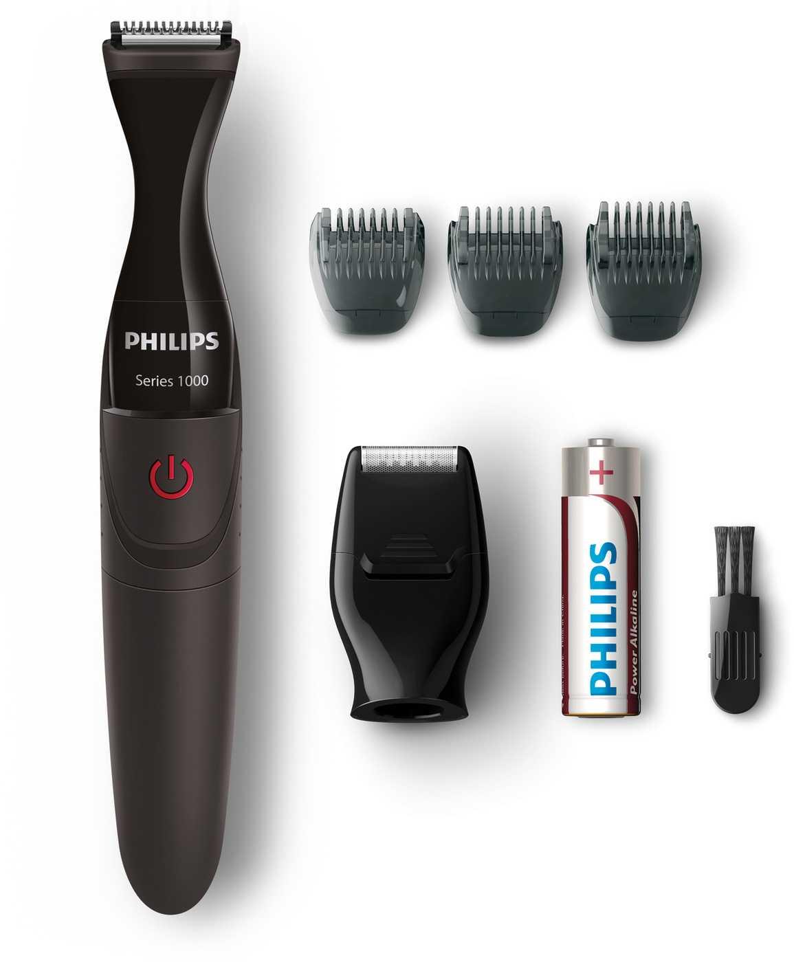 Купить триммер Philips MG1100/16, черный по низкой цене: отзывы, фото, характеристики в интернет-магазине Ozon