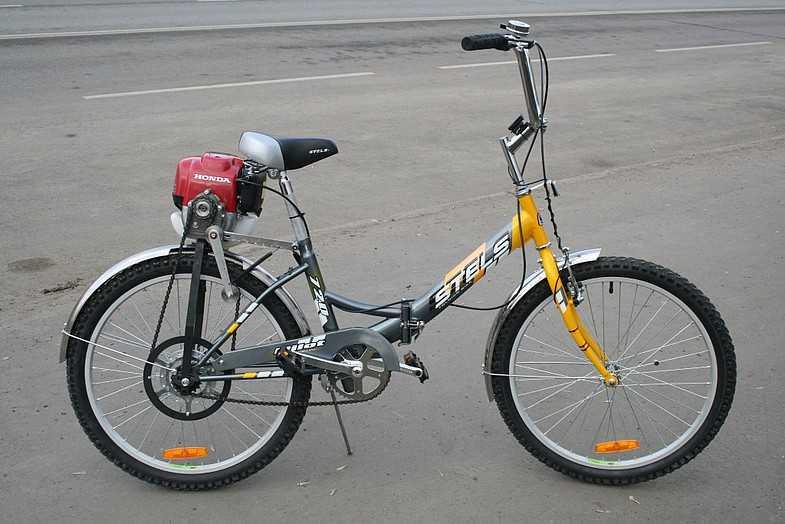 Как сделать велосипед с мотором от триммера