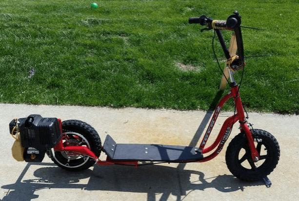 Изготовление с мотором от триммера — велосипеда и самоката