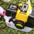 Как работает двухтактный двигатель на триммере