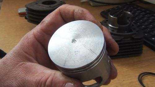Как установить поршень в цилиндр на триммер