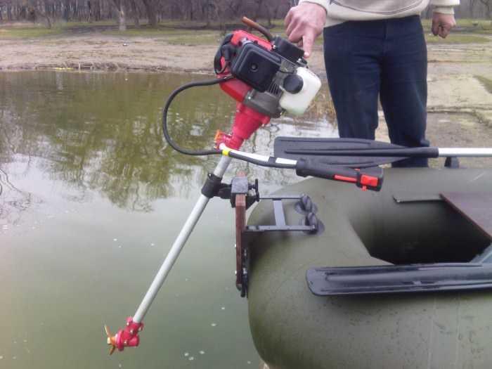 Как сделать мотор для лодки из триммера?