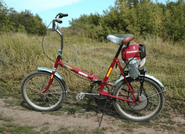 Велосипед с мотором от триммера — изготовление и сборка
