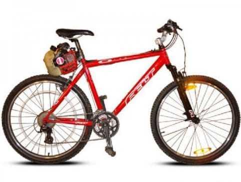 Велосипед с мотором от триммера своими руками. Видео
