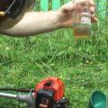 Как разбавить бензин с маслом для триммера – таблица смешивания