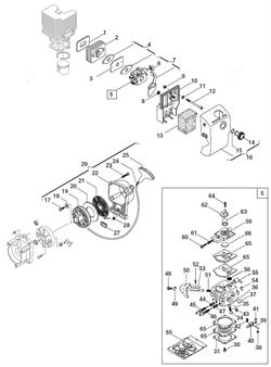 Стартер триммера Alpina 534D