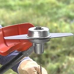 Как установить диск на триммер вместо лески