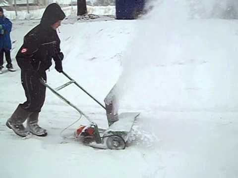 Снегоуборщик из триммера своими руками — пошаговая инструкция, чертежи